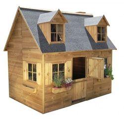 Drewniany domek ogrodowy piętrowy dla dzieci maria marki 4iq
