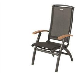 Hartman Krzesło ogrodowe w kolorze xerix/black grey | da vinci | podłokietniki z drewna tekowego (62900210)