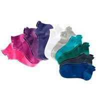 Skarpetki do sneakersów kangaroos (10 par)  lazurowy + lila + biały marki Bonprix