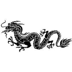 Szabloneria Szablon malarski z tworzywa, wielorazowy, wzór feng shui 6 - chiński smok