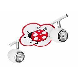 Britop lighting Lampa dla dziecka biedronka - fly biały/ chrom led 2x4,5w gu10 (5902166900963)