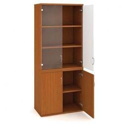 Szafa biurowa Select półkowa podzielona, 800 x 400 x 1920 mm, buk