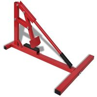 vidaXL Profesjonalny sprzęt do zmiany opon motocyklowych, czerwony (8718475863045)