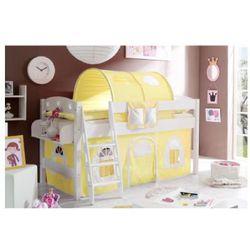 Ticaa łóżko z drabinką kenny sosna biała/żółty-biały wyprodukowany przez Ticaa kindermöbel