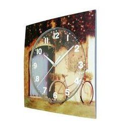Zegar ścienny kwadrat rower, T1218S3