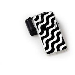 Fantastic Case - Asus Zenfone Zoom - etui na telefon Fantastic Case - biało-czarna fala