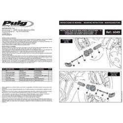 Crash pady PUIG do Honda Crosstourer (czarne) z kategorii crash pady motocyklowe