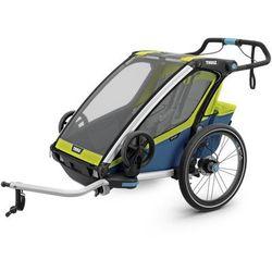 THULE Chariot Sport 2, przyczepka rowerowa dla dziecka - zielony/niebieski