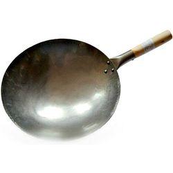Sklep.nasushi Wok ręcznie kuty ze stali węglowej - średnica 35,5cm