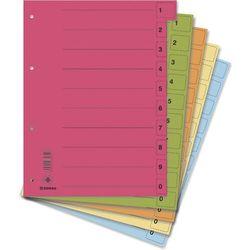 Donau Przekładki , karton, a4, 235x300mm, 0-9, 10 kart z perforacją, 50szt., mix kolorów