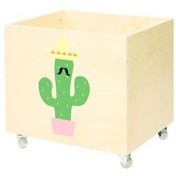 Nobobobo Drewniana skrzynia na zabawki kaktus -