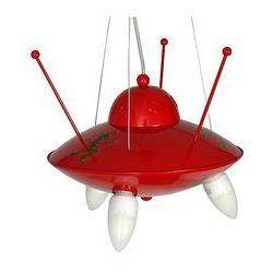 Lampa wisząca dziecięca Ufo 3xE14/60W czerwona (5907565930641)
