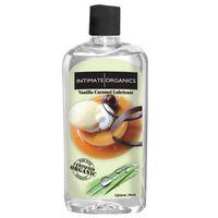 Intimate organics Środek nawilżający -  vanilla caramel lube 120 ml waniliowy