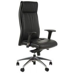 Fotel biurowy gabinetowy GN-106/CZARNY krzesło biurowe obrotowe