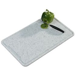 Deska do krojenia w kolorze szarym, plastikowa deska do krojenia, deska kuchenna, deska do serwowania, akcesoria kuchenne, marki Kesper