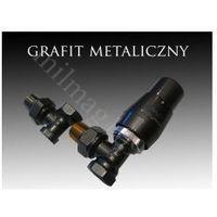 Zestaw zaworów grzejnikowych termostatycznych elegant kątowy grafit marki Mera term