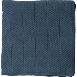 Narzuta w jodełkę 260 x 220 cm niebieska marki Bloomingville