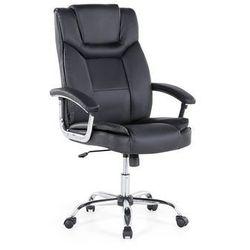 Beliani Krzesło biurowe czarne - obrotowe - skóra ekologiczna - advance