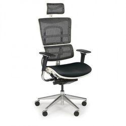 Wielofunkcyjne krzesło biurowe WINSTON WHITE SAB, czarny/biały