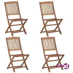 Vidaxl składane krzesła ogrodowe, 4 szt., lite drewno akacjowe (8719883722191)