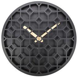 Zegar ścienny Discrete czarny, 3215ZW