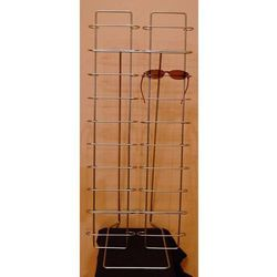 Metalowy stojak na okulary 20par - srebrny