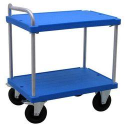 Wózek stołowy do dużych obciążeń, dł. x szer. 900x600 mm, nośność 500 kg, niebie