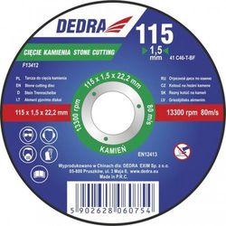 Tarcza do cięcia DEDRA F13413 115 x 3 x 22.2 mm do kamienia - oferta [a53568269555f567]
