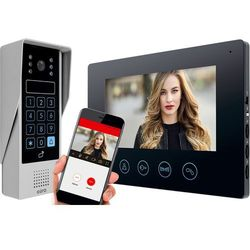 Eura Wideodomofon vdp-90a3 delta czarny, 7'', wifi, otwieranie 2 wejść, szyfrator, czytnik zbliżeniowy (5905548277165)