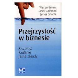 Przejrzystość w biznesie, książka z kategorii Biznes, ekonomia
