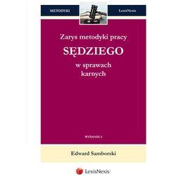 Zarys metodyki pracy sędziego w sprawach karnych. (ISBN 9788327803849)