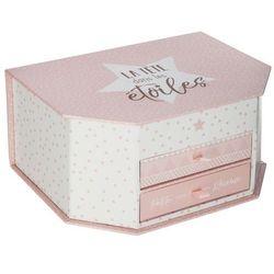 Organizer na biżuterię w stylu glamour, pudełko na biżuterię, pudełko ozdobne, kuferek z lusterkiem, szkatułka z szufladkami (3560239687979)