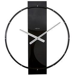 Zegar ścienny Carl czarny, kolor czarny