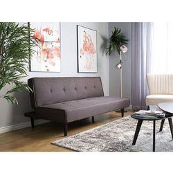 Sofa trzyosobowa tapicerowana brązowa visby marki Beliani