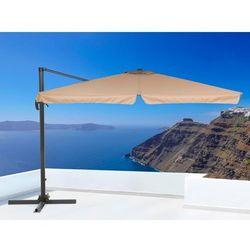 Parasol ogrodowy – mokka – 297x297 cm – na wysięgniku – metalowy - MONZA - produkt z kategorii- Parasole ogrodowe