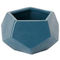 Goodhome Doniczka ceramiczna ozdobna 9 cm niebieska (3663602441212)