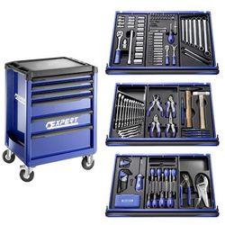 Wózek warsztatowy 6 szuflad, 3 moduły, 207 narzędzi EXPERT E220316