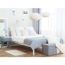 Metalowe białe łóżko ze stelażem 160 x 200 cm cusset marki Beliani