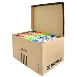 Pudło archiwizacyjne wzmocnione DONAU, karton, zbiorcze, górne, brązowe