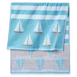 Ręczniki z motywem żaglówek niebieski marki Bonprix