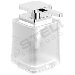Dozownik do mydła w płynie bez uchwytu / szkło matowe | 8 x 11 x 13 cm