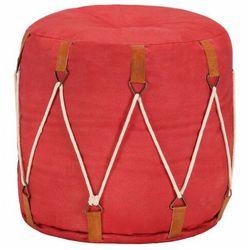 Czerwona okrągła pufa do siedzenia - Lasso, kolor czerwony