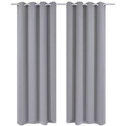 Vidaxl szare zasłony zaciemniające z metalowymi otworami x2 135 x 245 cm