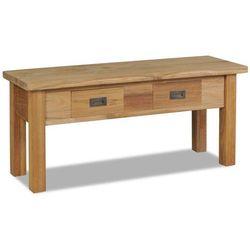 Vidaxl ławka do przedpokoju, lite drewno tekowe, 90 x 30 40 cm