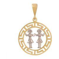 Złoty znak zodiaku zobli wyprodukowany przez Nie