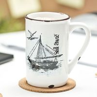 Porcelanowy kubek retro - Sail away - Sail away