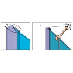 essenza new dwj drzwi wnękowe jednoczęściowe lewe 120 cm 385016-01-01l, marki Radaway