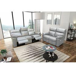 Interform Valetta - sofa 3 relax elektryczna + sofa 2 - biały