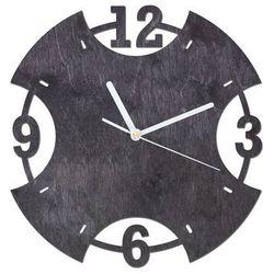 Congee.pl Drewniany zegar na ścianę pierścień z białymi wskazówkami