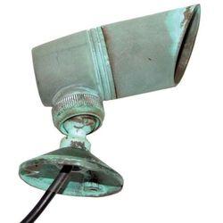 Zewnętrzna lampa ścienna gz/bronze2  kinkiet reflektorowa oprawa ogrodowa led 3w ip44 outdoor zieleń miedziana od producenta Elstead